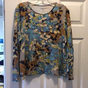 Croft & Barrow Leaf Print Shirt XL